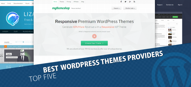 Best 5 premium wordpress themes poviders